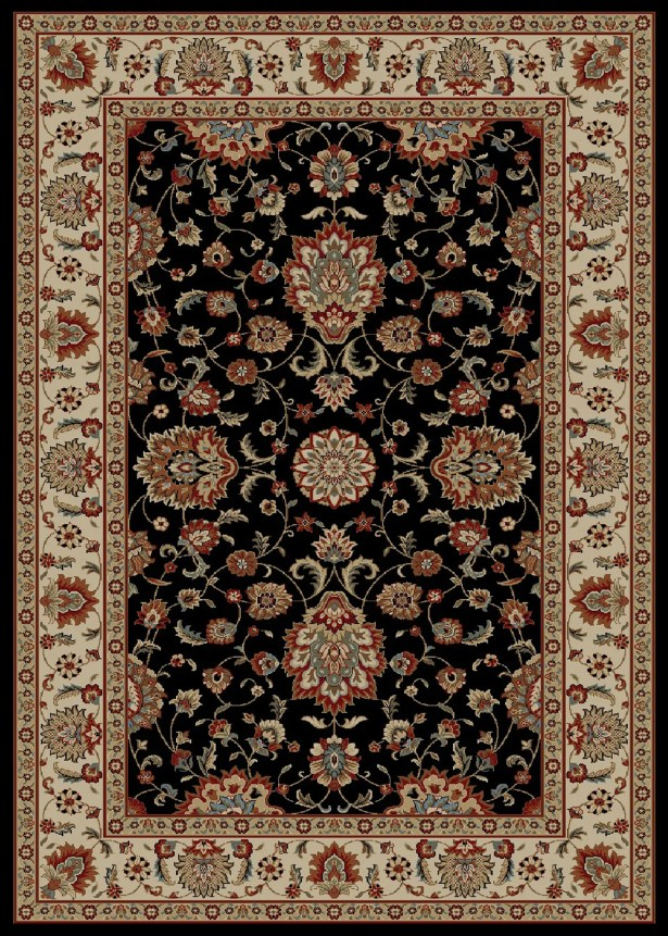 Timeless Olivia Black Area Rug Rug Size: Rectangle 5' x 8'