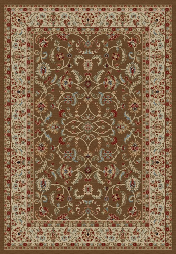 Hometown Classic Keshan Chocolate Area Rug Rug Size: Rectangle 5' x 8'