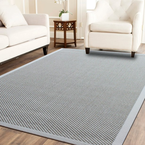 Hand-Woven Ivory Area Rug Rug Size: 8' x 10'