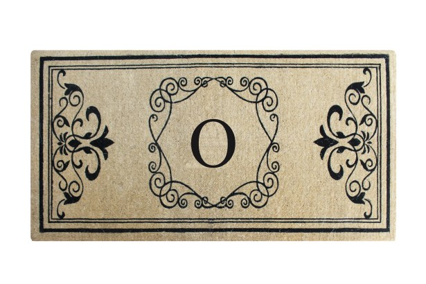 First Impression Hayley Monogrammed Entry Double Doormat Letter: O