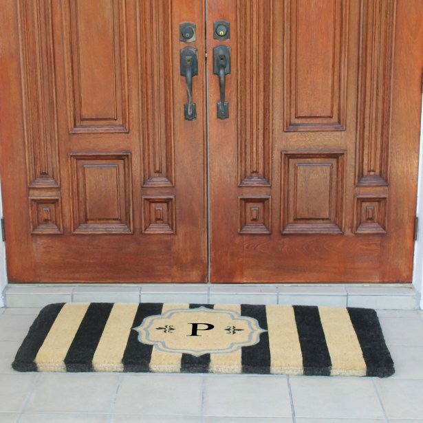 First Impression Haywood Entry Double Doormat Letter: P