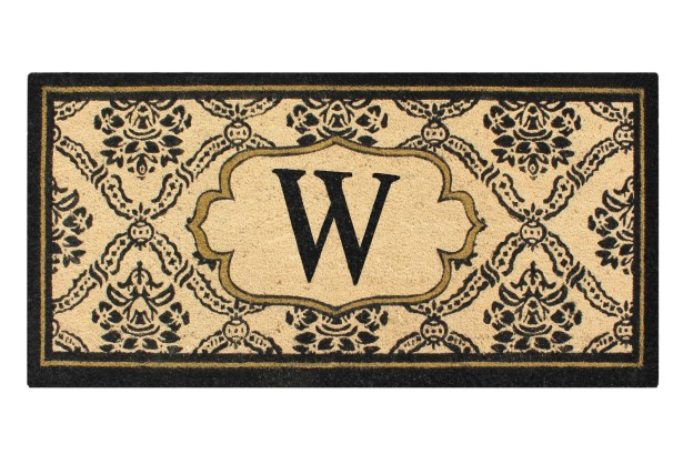 First Impression Engineered Anti Shred Treated Uriel Monogrammed Doormat Letter: W