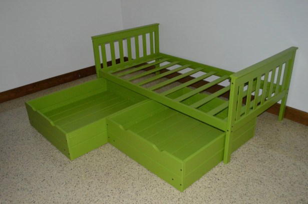 2 Piece Underbed Storage Drawer Set Size: Twin, Color: Lime