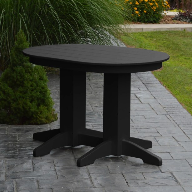 Nettie Dining Table Color: Black, Table Size: 48