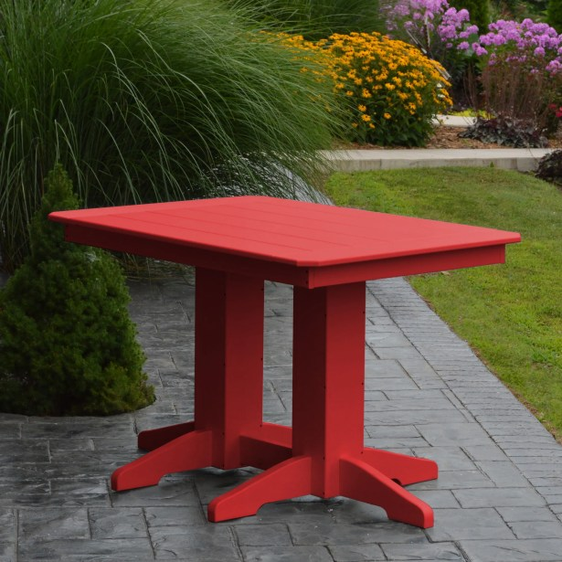 Nettie Dining Table Color: Bright Red, Table Size: 72