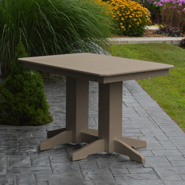 Nettie Dining Table Color: Weathered Wood, Table Size: 48