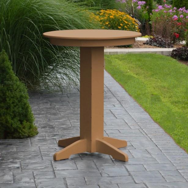 Nettie Bar Table Color: Cedar, Table Size: 33