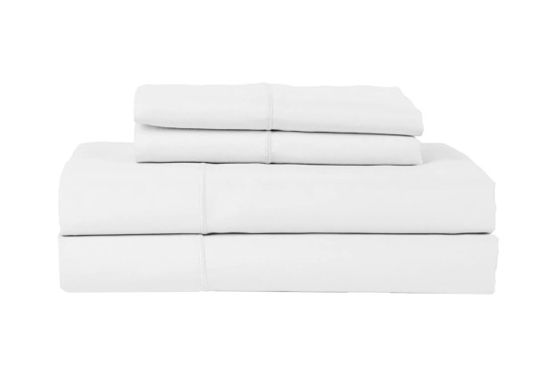 Devonshire of Nottingham 1200 Thread Count Egyptian Quality Cotton Sheet Set Color: White, Size: California King