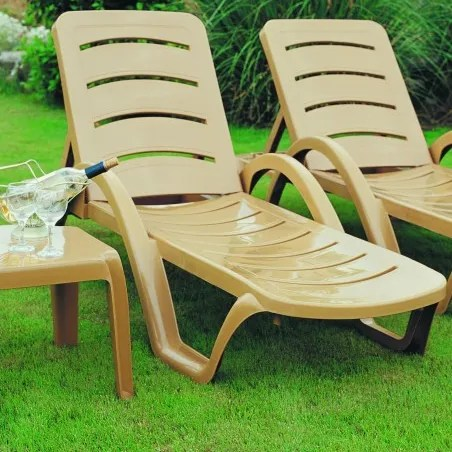 Snake River Chaise Lounge (Set of 4) Finish: Teak Brown