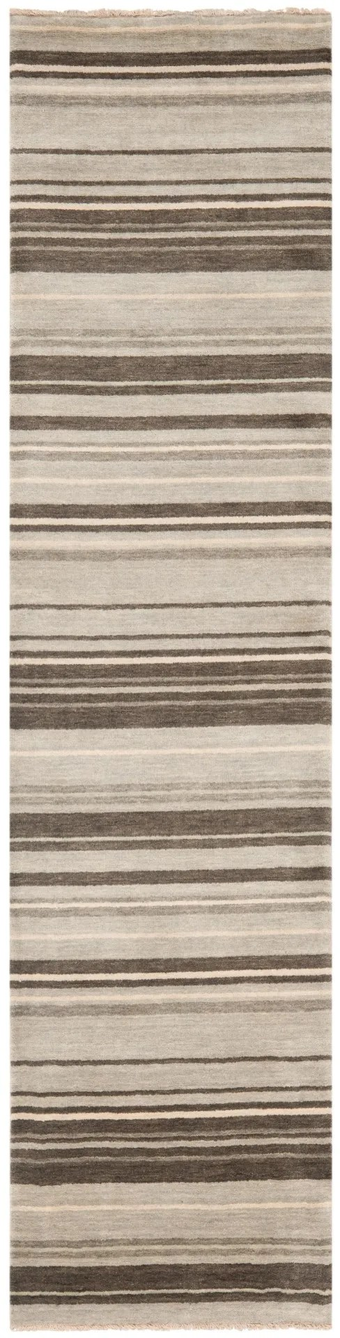 Wesley Hand-Knotted Silver Area Rug Rug Size: Runner 2' x 8'