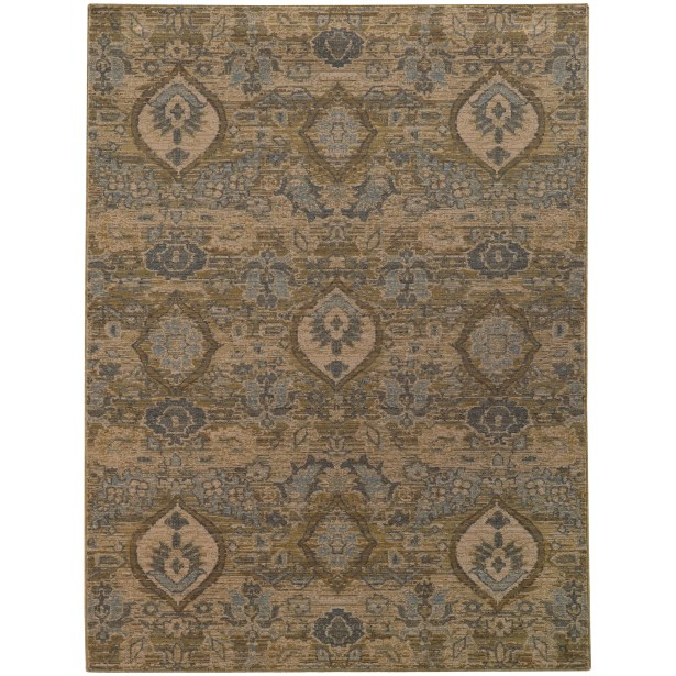Tackett Brown/Blue Area Rug Rug Size: Rectangle 5'3