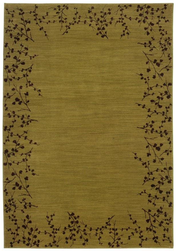 Ryles Gold/Brown Area Rug Rug Size: Rectangle 5'3