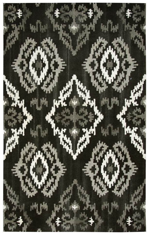 Allerton Hand-Tufted Black Area Rug Rug Size: Rectangle 8' x 10'