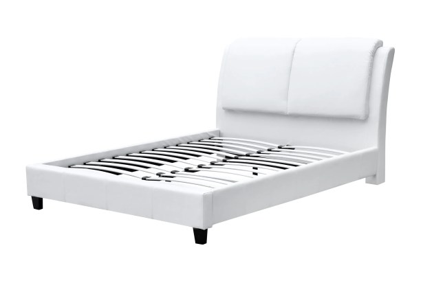 Queen Panel Bed Color: White