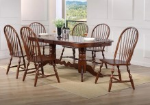 Dining Table Sets Lozano Double Pedestal Extension 7 Piece Dining Set