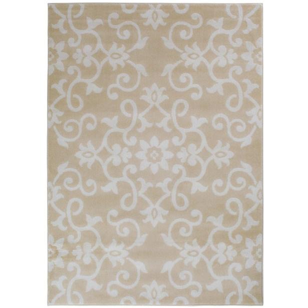 Eibhlin Snow/Buff Beige/Cream Area Rug Rug Size: Rectangle 7'10