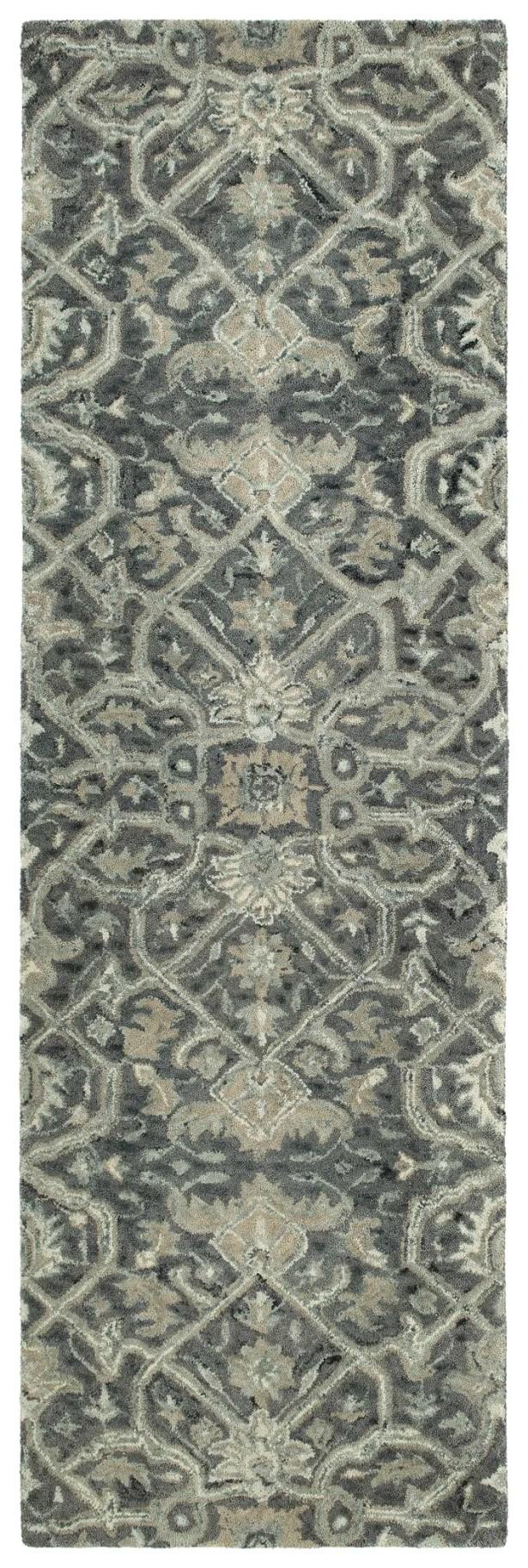 Toshiro Hand Tufted Wool Graphite Area Rug Rug Size: Runner 2'6