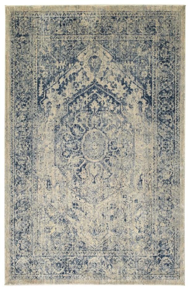 Jada Oriental Denim/Linen Area Rug Rug Size: Rectangle 3'11