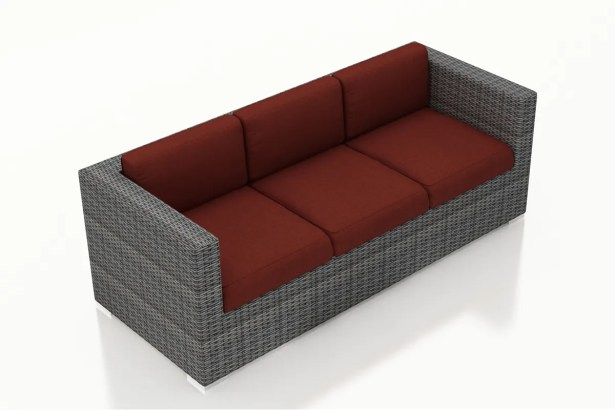 District Patio Sofa with Cushions Color: Canvas Henna