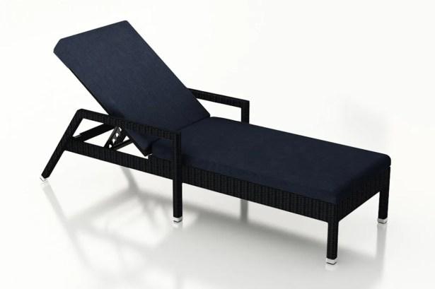 Urbana Reclining Chaise Lounge with Cushion Cushion Color: Spectrum Indigo