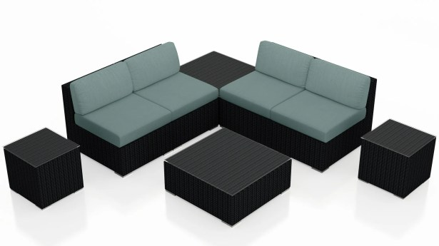 Urbana 8 Piece Sectional Set with Cushions Fabric: Canvas Spa