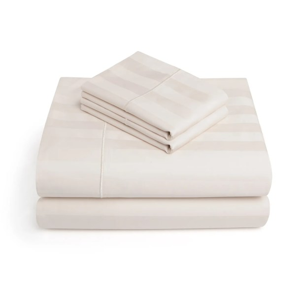 Alluvial 500 Thread Count 100% Cotton Sheet Set Size: Full, Color: Ivory