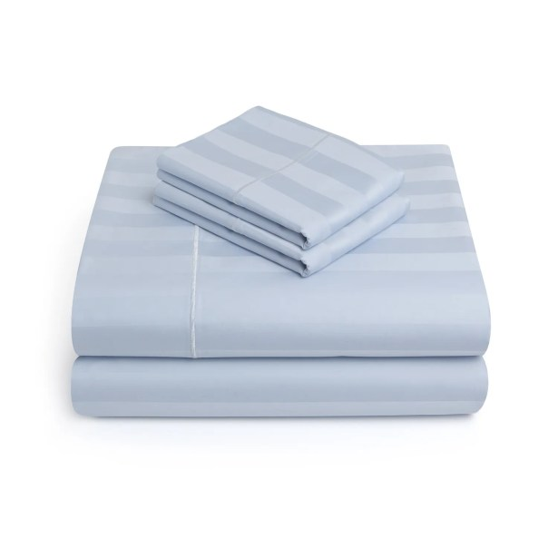 Alluvial 500 Thread Count 100% Cotton Sheet Set Size: Queen, Color: SkyBlue