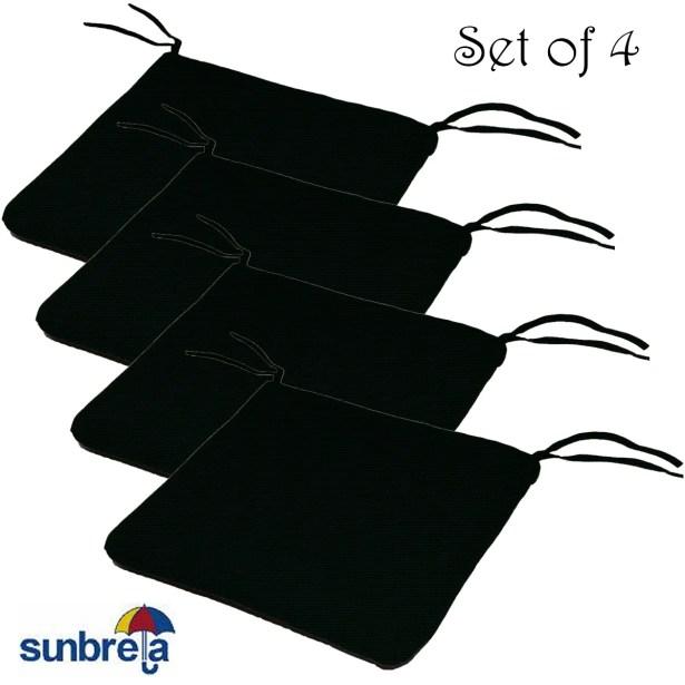Knife Edge Indoor/Outdoor Sunbrella Cushion Fabric: Raven Black