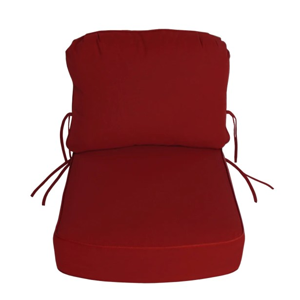 Indoor/Outdoor Sunbrella Deep Setting Chair Cushion Fabric: Jockey Red