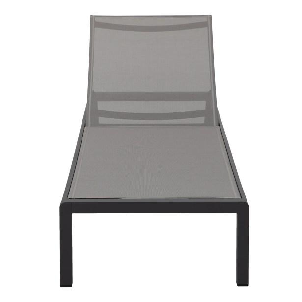 Chaise Lounge Fabric/Finish: Gray/Black