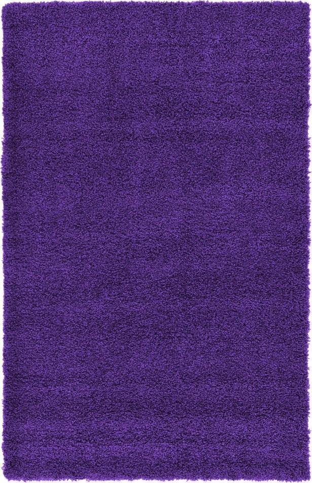 Hand-Woven Purple Area Rug Rug Size: 5' x 8'