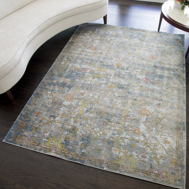 Chavis Distressed Blue/Green Area Rug Rug Size: Rectangle 5' x 7'
