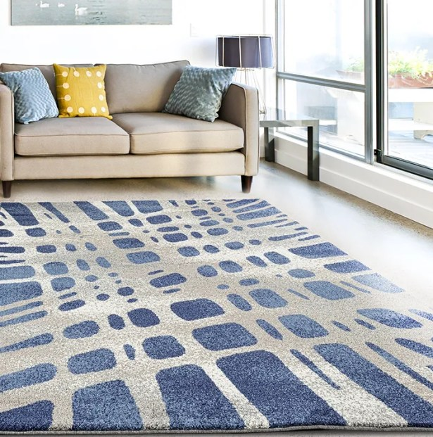 Chardae Blue/Beige Area Rug Rug Size: Rectangle 7'10
