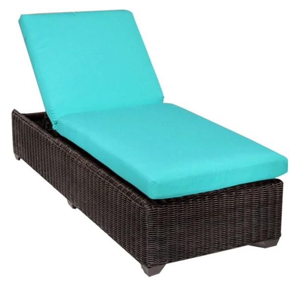 Eldredge Chaise Lounge with Cushion Color: Aruba