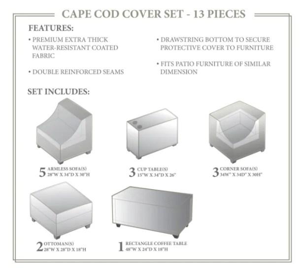 Cape Cod Winter 14 Piece Cover Set