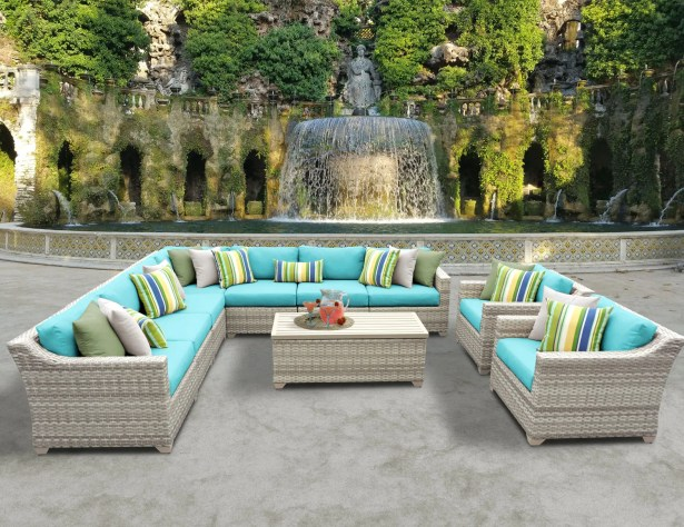 Ansonia 10 Piece Sectional Set with Cushions Color: Aruba