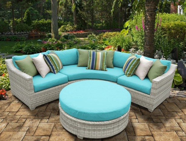 Ansonia 4 Piece Sectional Set with Cushions Color: Aruba