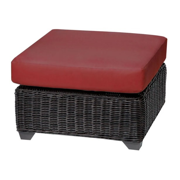 Eldredge Ottoman with Cushion Fabric: Terracotta
