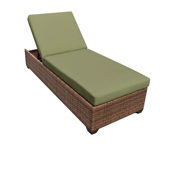 Asellus Chaise Lounge with Cushions Color: Cilantro
