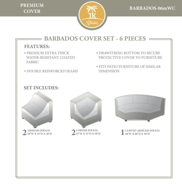 Barbados 6 Piece Cover Set