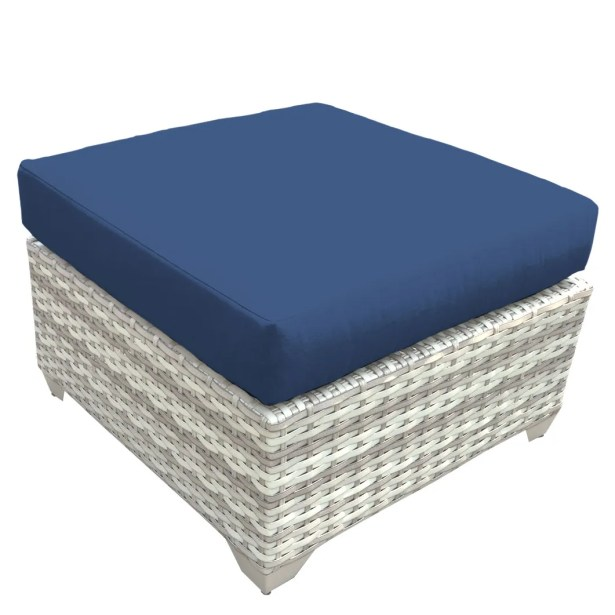 Ansonia Ottoman with Cushion Fabric: Navy