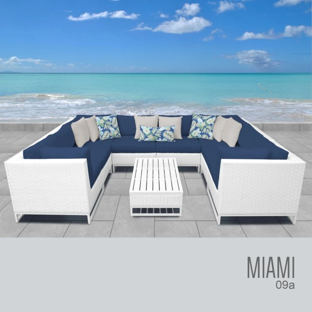 Miami 9 Piece Sectional Set with Cushions Fabric: Cocoa