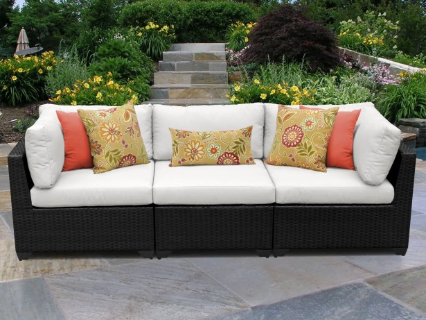 Belle Corner Armless Sectional Piece with Cushions Color: White