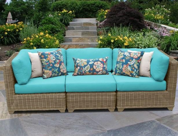 Cape Cod Corner Armless Sectional Piece with Cushions Color: Aruba