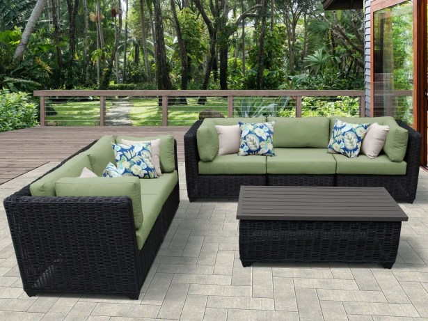 Eldredge 6 Piece Sectional Set with Cushions Color: Cilantro
