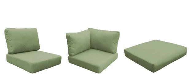 Barbados Outdoor Replacement Cushion Set Fabric: Cilantro