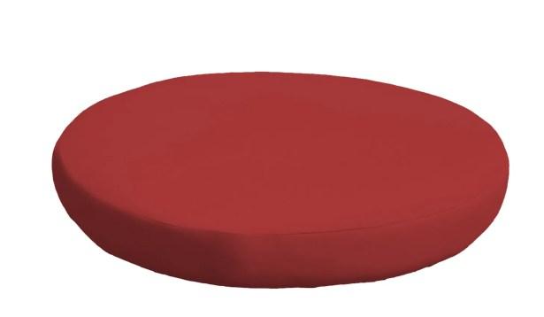 Outdoor Ottoman Cushion Fabric: Terracotta