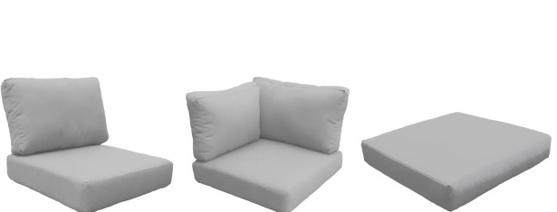 Florence 25 Piece Outdoor Cushion Set Fabric: Gray