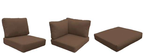 Florence 13 Piece Outdoor Cushion Set Fabric: Cocoa