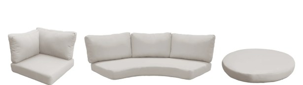 Barbados 11 Piece Outdoor Cushion Set Fabric: Beige